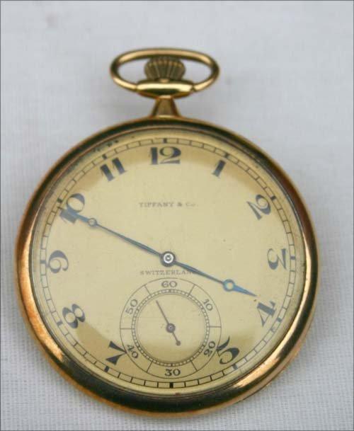 173B: 18k gold men's pocket watch for Tiffany & Co