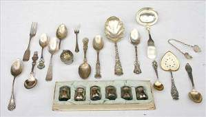 231: sterling silver lot of misc flatware incl serving
