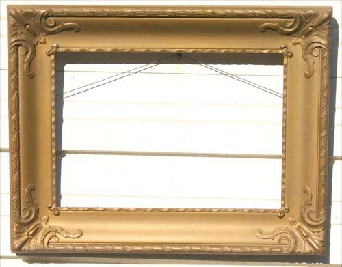 3: Art Nouveau antique gold gilt frame - 14x20 - (21 1/