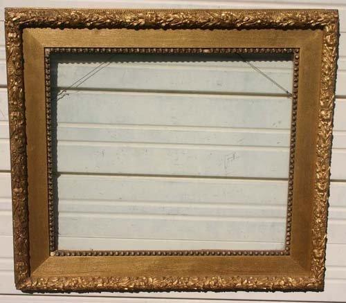 6: Fine Doll & Richards antique gold gilt frame w oak l