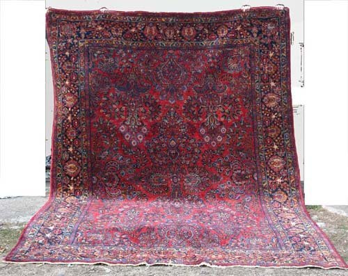 """7: outstanding 8'9"""" x 12' antique Persian painted Sarou"""