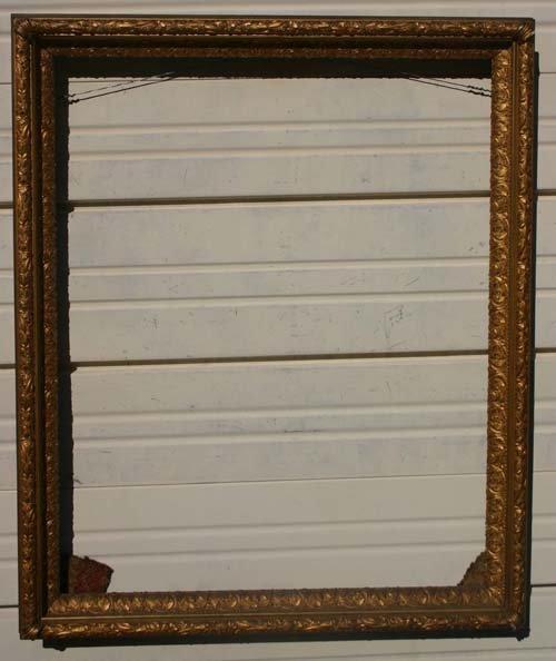8: pr of beautiful antique applied gold gilt frames - 2