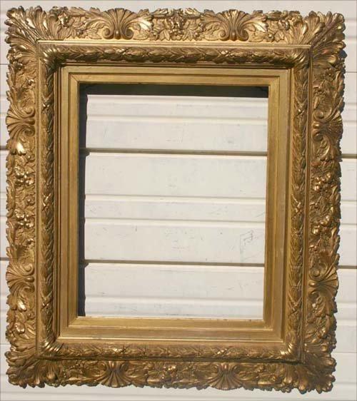 9: very ornate antique applied gold gilt antique frame