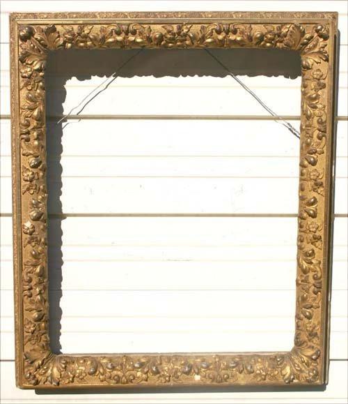 13: American Barbizon antique gold gilt frame (missing