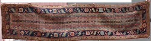 "14: 3'4""x13'9"" antique NW Persian Oriental Runner"