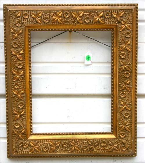 18: sgnd Foster Bros antique beautifully gesso dec gold