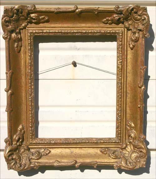 20: pr of fine antique American Barbizon gold gilt fram