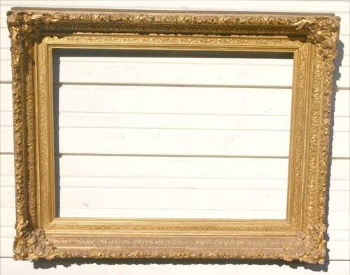 22: Great antique Hudson River gold gilt frame - 23 1/2