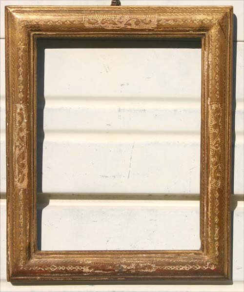 24: Fine Max Kuehne incised gold gilt frame (slight war