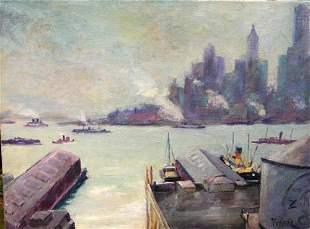 219: Important Max Kuehne (1880-1968) 18x24 o/c fabulou