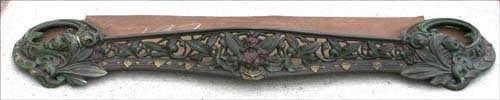 378 ca 1860 Victorian American cast iron polychrome pa