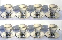 49A set of 8 International sterling silver La Paglia