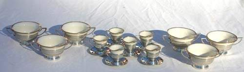 94 12 pc sterling silver boullion  demi tasse cups