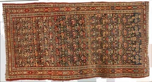 """1: 3'8"""" x 6'10"""" antique Shirvan/Caucasian Oriental Rug"""