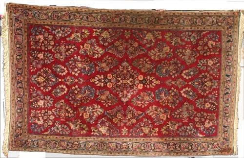 """6: Fine 6'3""""x4' antique Persian Sarouk Oriental Rug"""