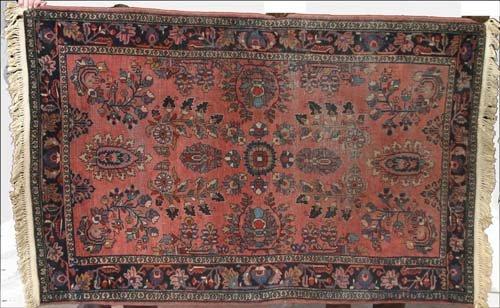 """8: 4'4""""x6'6"""" antique Persian Sarouk Oriental Rug"""