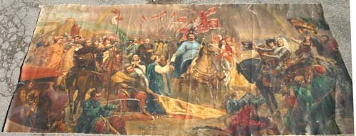 """10A: 2 ca 1930 magnificent mural size approx 5'9""""x12' t"""