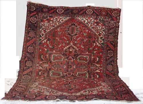 """11: 8'9""""x11'7"""" antique Persian Heriz Oriental Rug"""