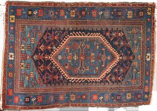 "12: 4'5""x6'2"" antique Persian Hamadan Oriental Rug"
