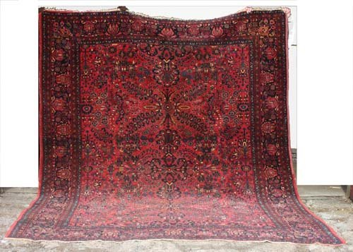 "17: 8'11""x11'1"" antique Persian Lilihan Oriental Rug"
