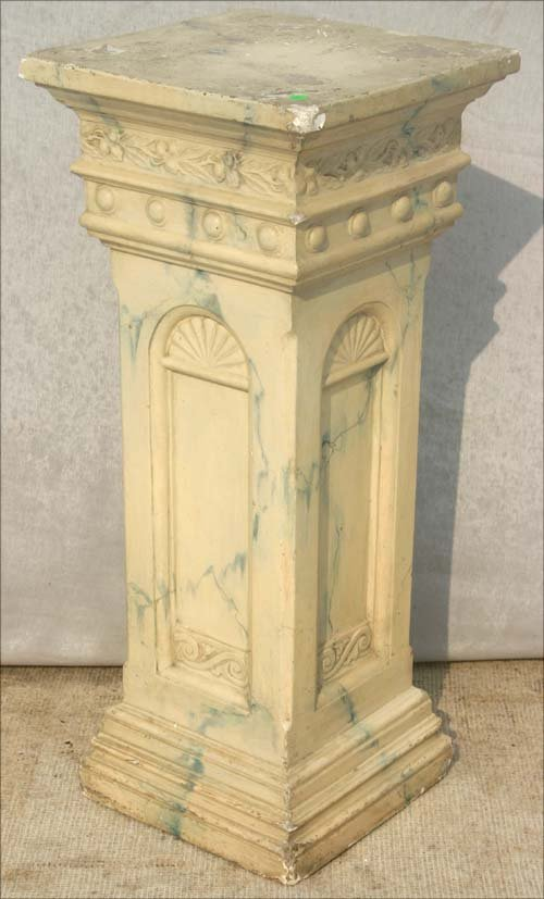 pedestals ebay home furniture pick plant design plaster stand up greek s pedestal column roman white