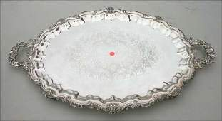 358 lg 30 12 x 18 antique silver plated serving tra