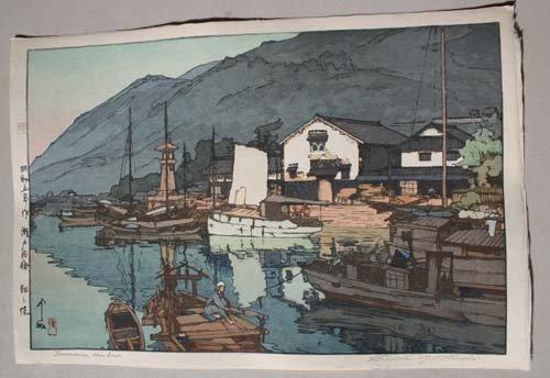 "3: Fine Japanese Woodblock print by Hiroshi Yoshida ""To"
