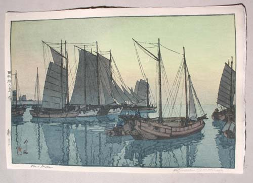 "5: Fine Japanese Woodblock print by Hiroshi Yoshida ""Ne"