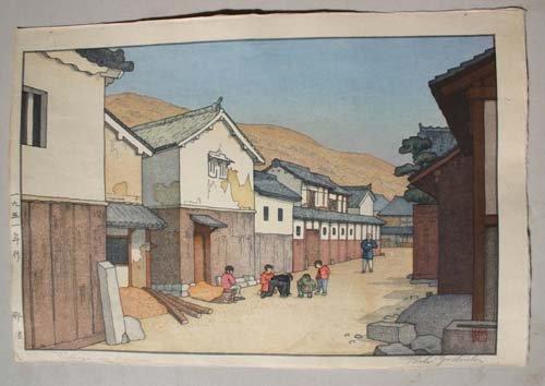 "8: Japanese Woodblock print by Toshi Yoshida ""Village i"