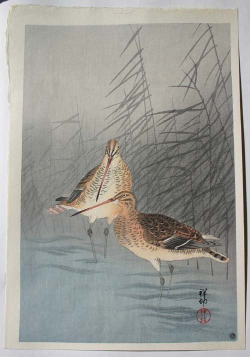 16: Japanese Woodblock print of birds by Shoson