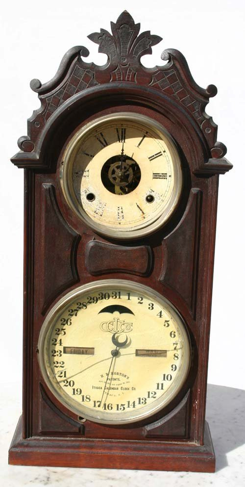 23: Ithaca pat'd 1865-66 calendar clock