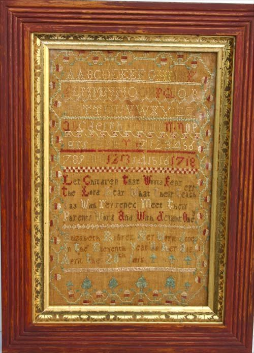 24: Fine cond dtd April the 20th 1815 sampler by Elizab