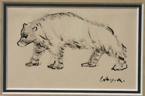 87: sgnd William Gropper (1897-1977) 2 1/2 x 4 s.s. pen