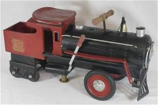 "Keystone #6400 ride 'em locomotive - approx 26"" long"