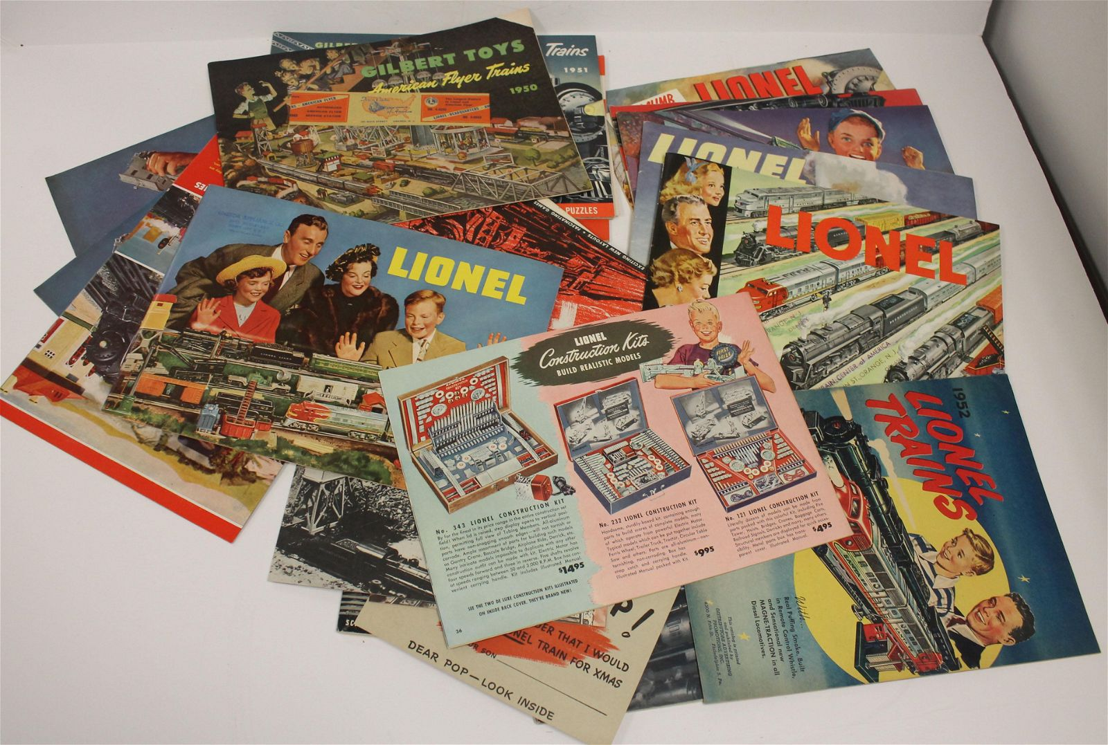lot of early-mid 20thC Train catalogues incl Lionel &