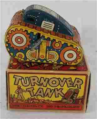 "Marx tin wind-up ""Turnover Tank"" in orig box"