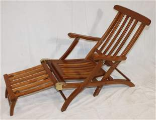 """Child's mahogany ship's lounge chair - approx 39"""" long"""