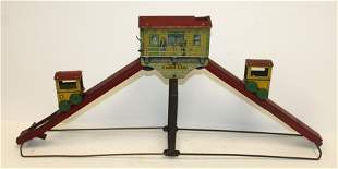"""""""Sunny Andy"""" tin cable car sand toy - approx 24"""" long x"""