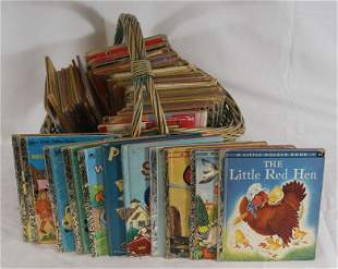 """Large lot of """"Golden Books"""""""
