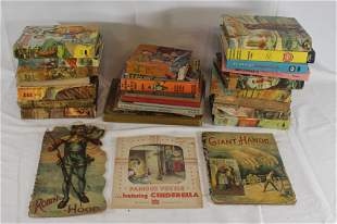 Large lot of vintage hard cover children's books by