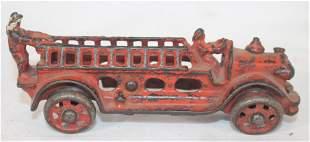 """Antique cast iron ladder truck - 5"""" long"""
