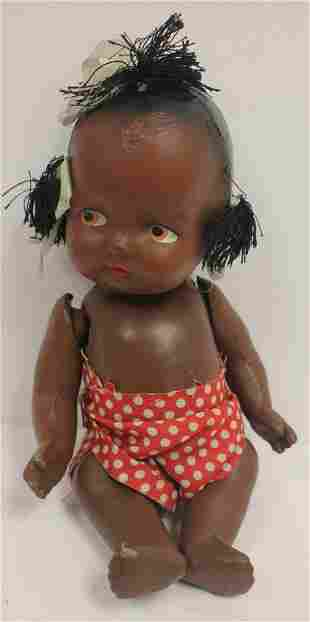 """African American composition baby doll - 9"""" long"""