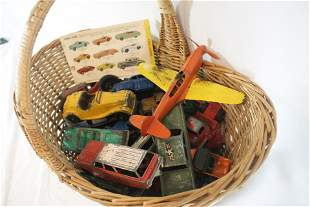 Large lot of Dinky Toy vehicles incl planes, cars,
