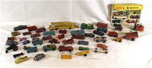 Lot of die cast vehilces incl Tootsietoy, Dinky,
