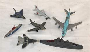 lot of diecast airplanes & submarines by Matchbox,
