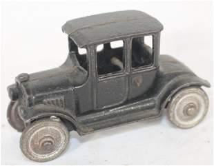 """Antique cast iron Model A car in black paint - 4"""""""