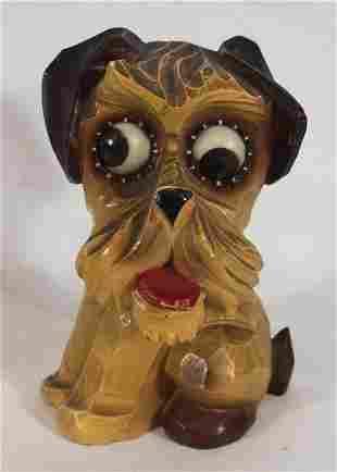 German dog form googly eye clock