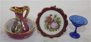 Vintage dollhouse mini kitchen items incl Limoges