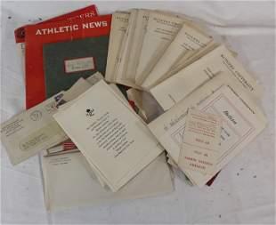Large ephemera lot of vintage college sports catalogs,