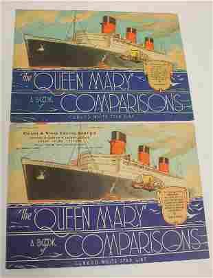 """Vintage """"The Queen Mary A Book of Comparisons"""" travel"""